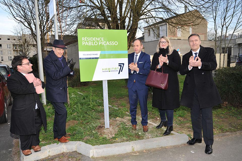 Inauguration des résidences Pablo Picasso et Le Clos de Sommeville à Combs-la-Ville