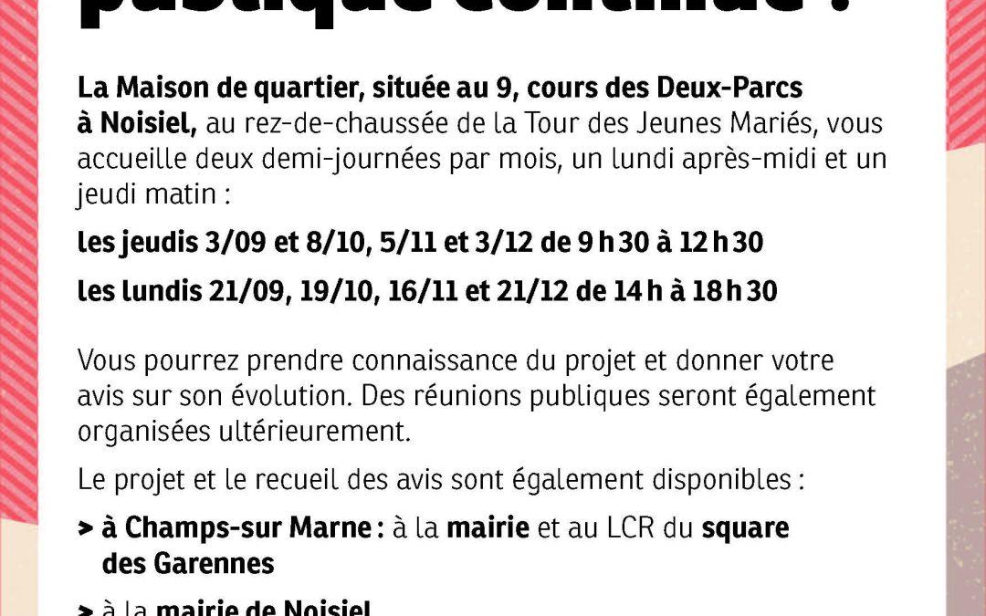Concertation publique sur le quartier des Deux Parcs – Champs-Noisiel