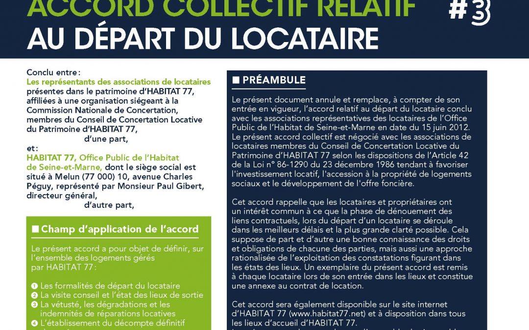 ACCORD COLLECTIF RELATIF AU DÉPART DU LOCATAIRE